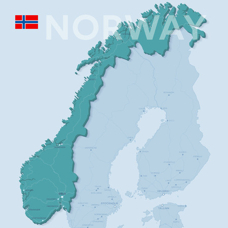 Map of Norway icon. Illustration