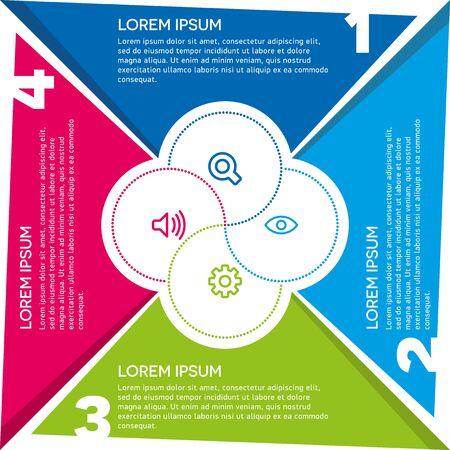 Business data visualization. Creative concept for infographic. Ilustração