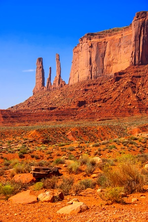Landscape formations in Monument Valley  photo