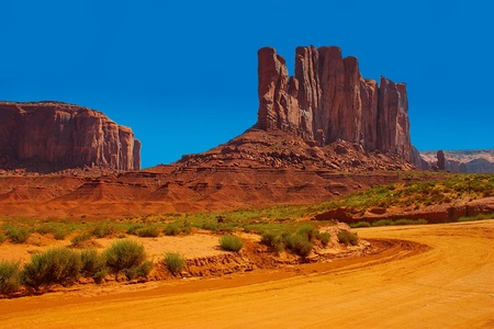 Dirt road in Monument Valley  photo