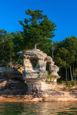 superior: Chapel Rock in Pictured Rocks National Shore, lake Superior
