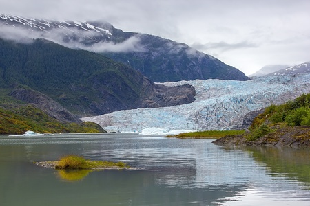 Mendenhall Glacier in Juneau, Alaska photo