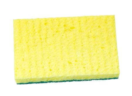 Synthetic kitchen sponge isolated on white Stock Photo - 18134871