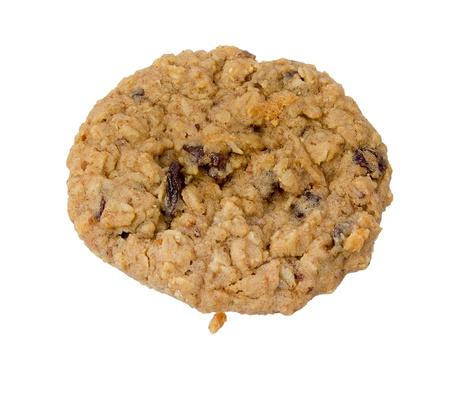 オートミールの増資クッキー分離された白地