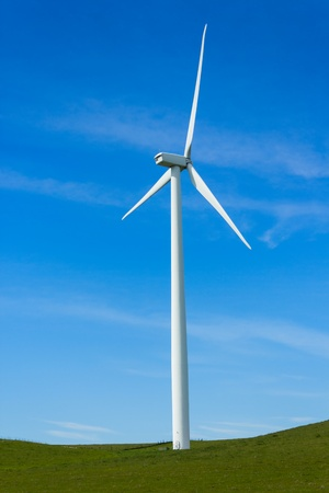 Shiloh Wind Power Plant is a wind farm located in the Montezuma Hills of Solano County, California, USA, very near to Bird Stock Photo - 18547468