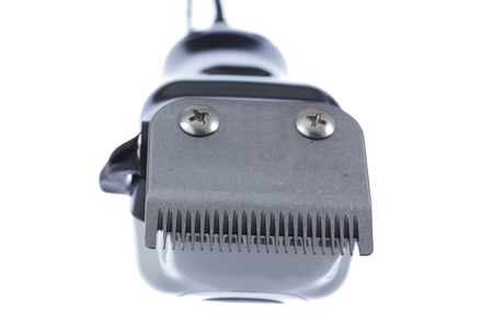 hairclipper: Electric hair trimmer,front view isolated on white background  Stock Photo