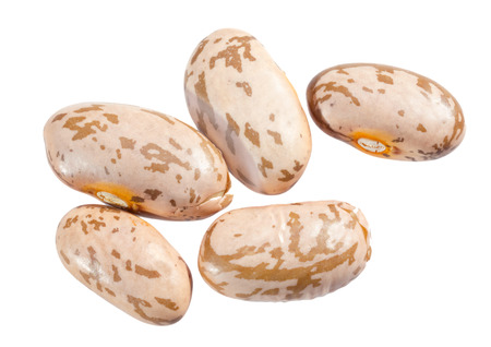 pinto: Pinto beans isolated on white background.