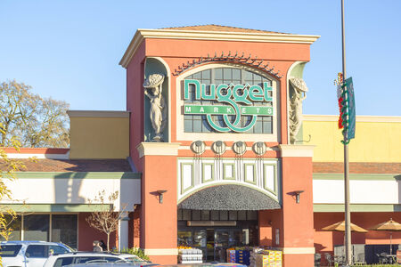 SACRAMENTO, USA - DECEMBER 21:  Nugget store entrance on December 21, 2013 in Sacramento, California. Nugget Markets is a family-owned upscale supermarket chain within Sacramento metropolitan area.