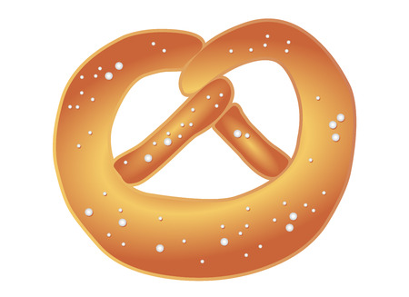 Salty pretzel / vector illustration