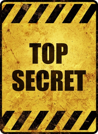 Yellow top secret warning sign Stock Photo - 16404071
