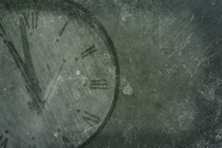 Grunge background with old clock photo