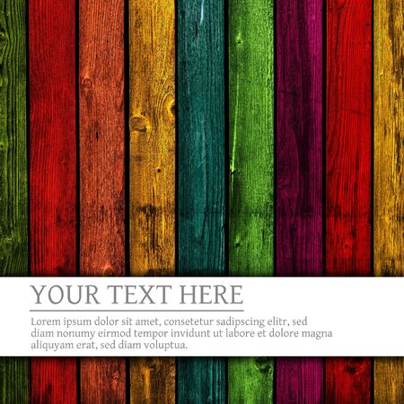 Colorful wooden background photo