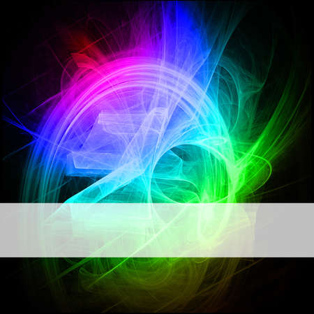 Abstract background with banner Stock Photo
