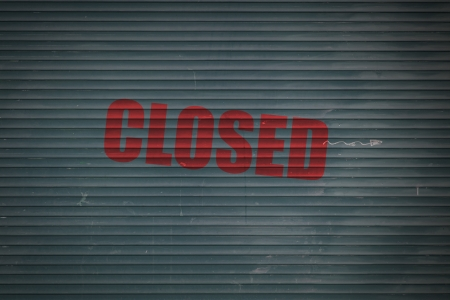 ende: Closed Shutter Stock Photo