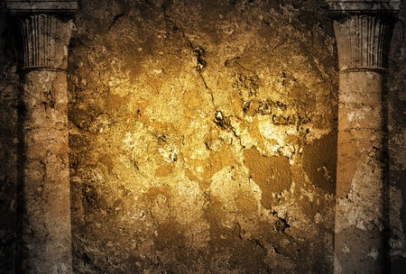grimy: Golden grunge background