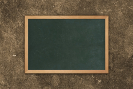 Blackboard on a grunge wall photo