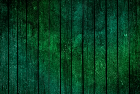 Green wooden fence texture - grunge style Stock Photo