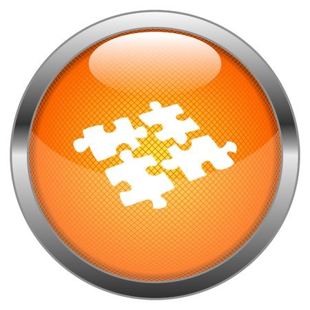 glossy: Button Puzzle Illustration