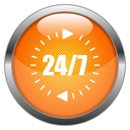 Button 24 7 Illustration