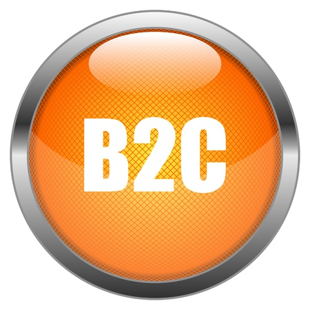 b2c: Button B2C Illustration