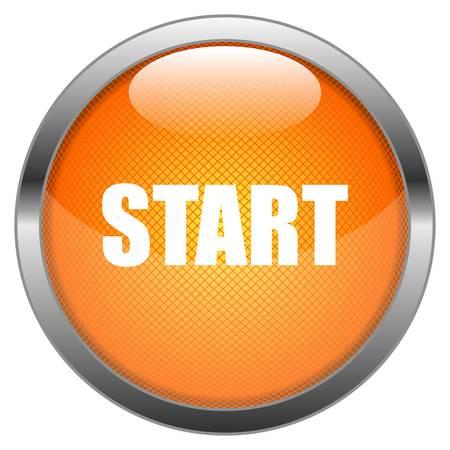 at the start: Button Start Illustration