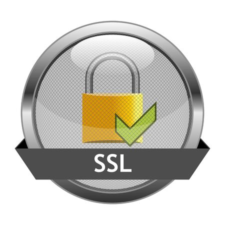 Button SSL Stock Vector - 16404139