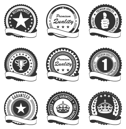 Vector Set Quality Badges Stock Vector - 16464622