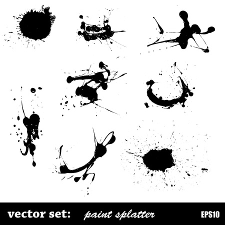 Vector Set Paint Splatter