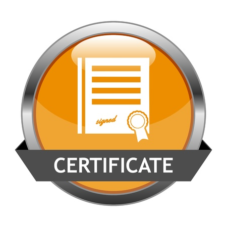 Button Certificate Vector