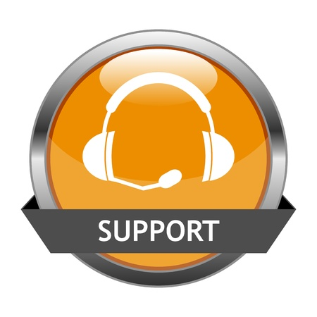 support center:  Button Support Illustration