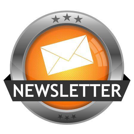 Button Newsletter Stock Illustratie