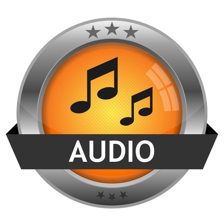 Button Audio Illustration