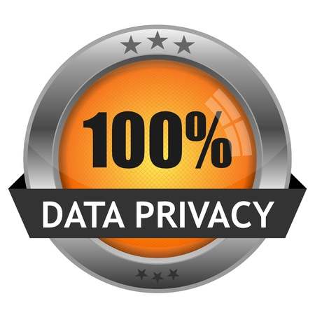 Button Data Privacy Stock Vector - 16528992