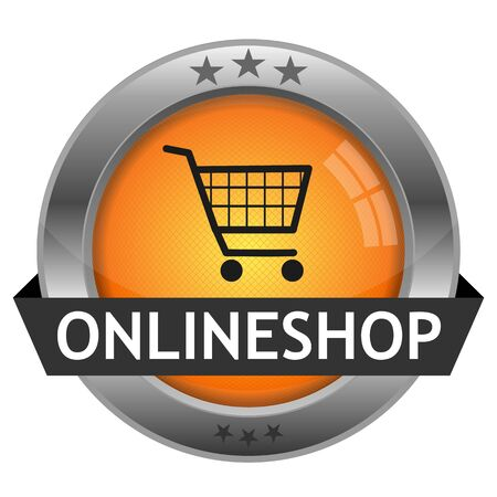 Button Onlineshop Illustration