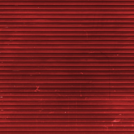 Red Roller Shutter Stock Photo