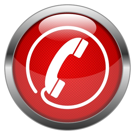 Button Hotline Vector