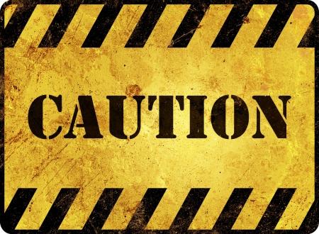 hazardous sign: Caution Warning Sign