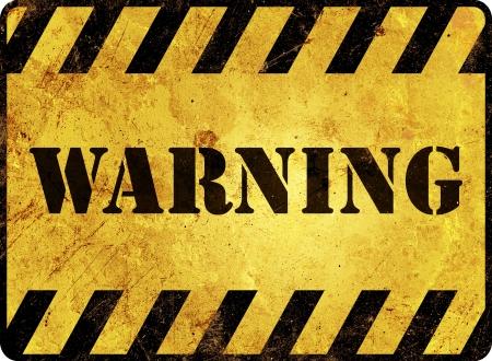 señales preventivas: Señal de peligro Foto de archivo