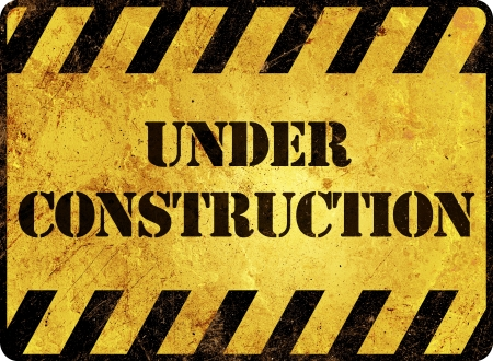 Under Construction Warning Sign photo