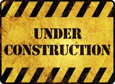dangerous construction: Under Construction Warning Sign