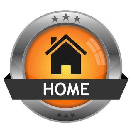 Button Home Stock Vector - 16852631