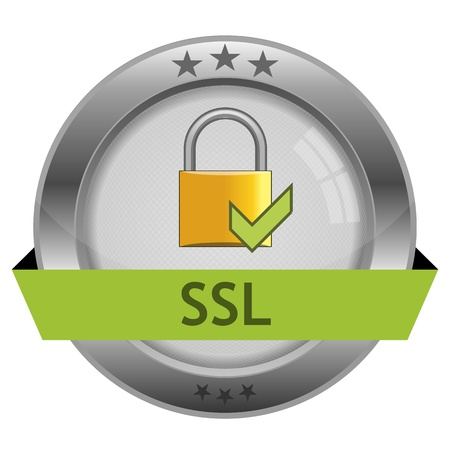 Button SSL  Vector