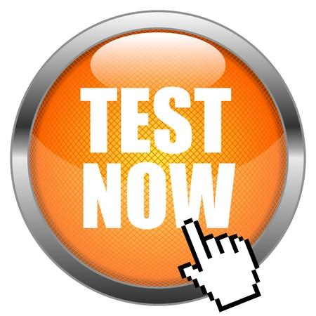 Button Test Now  Illustration
