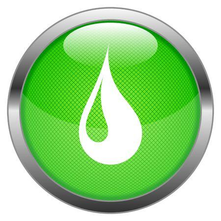 Button Water Drop  Stock Vector - 16852526