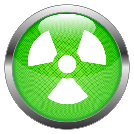Button Radioactivity  Stock Vector - 16852493