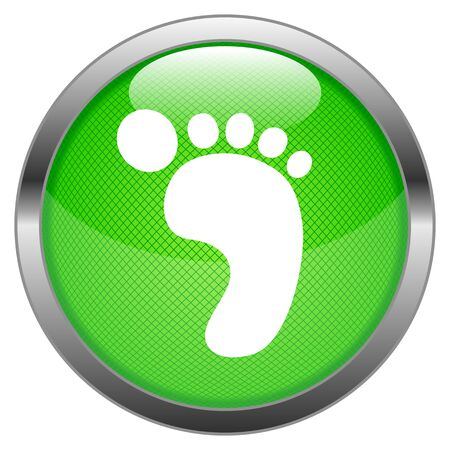 Button Green Carbon Footprint Stock Vector - 16852506