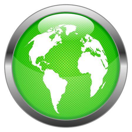 Button World Stock Vector - 16852567