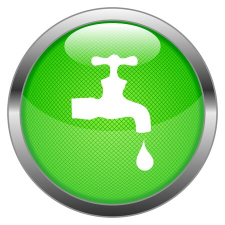 Button Water Tap Stock Vector - 16852538