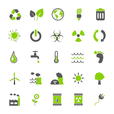 Set Eco Icons Illustration