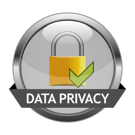 confidentiality: Button Data Privacy Illustration